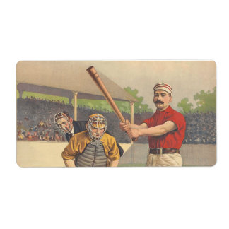 TOP America's Pastime Personalized Shipping Label