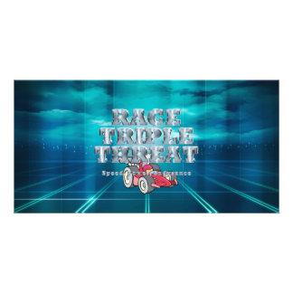 TOP Auto Race Triple Threat Card