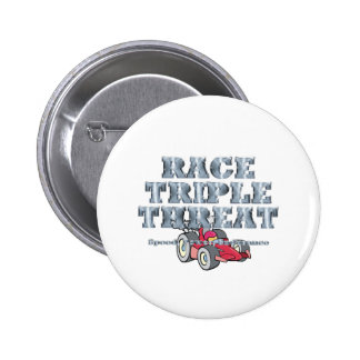 TOP Auto Race Triple Threat Pinback Button