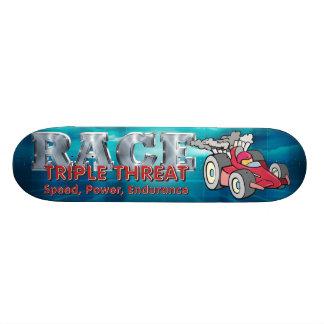 TOP Auto Race Triple Threat Skateboard Deck