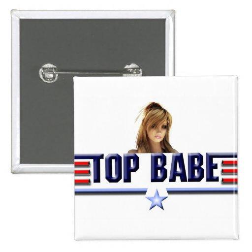 Top babe 2 inch square button