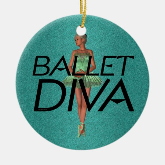 TOP Ballet Diva Ceramic Ornament