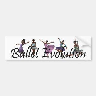TOP Ballet Evolution Car Bumper Sticker