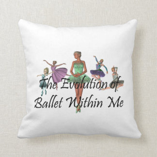 TOP Ballet Within Me Throw Pillow