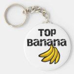 Top Banana Basic Round Button Keychain