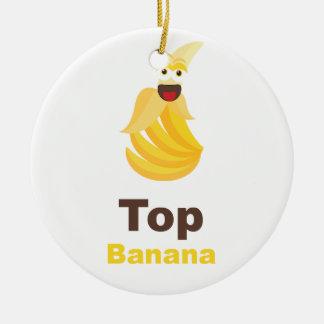 Top Banana Ceramic Ornament