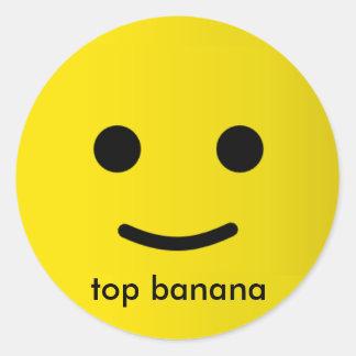 top banana classic round sticker
