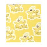 Top Banana Pattern Notepad