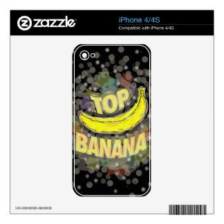 Top banana. skin for iPhone 4