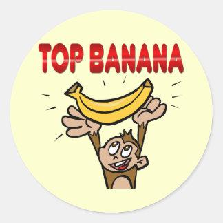 Top Banana Round Stickers