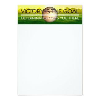 TOP Baseball Victory Slogan Card