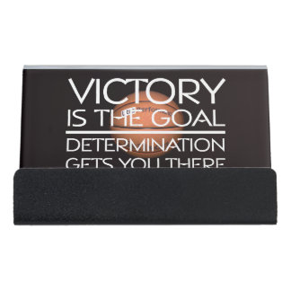 Basketball hoop business card holders cases zazzle top basketball victory slogan desk business card holder reheart Images