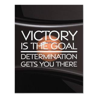 TOP Basketball Victory Slogan 4.25x5.5 Paper Invitation Card