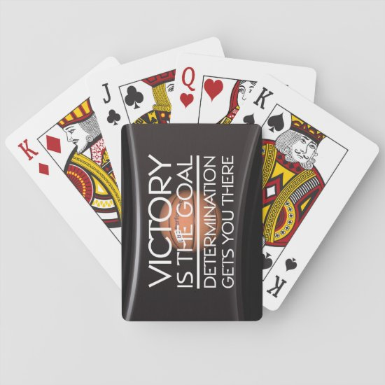 TOP Basketball Victory Slogan Playing Cards