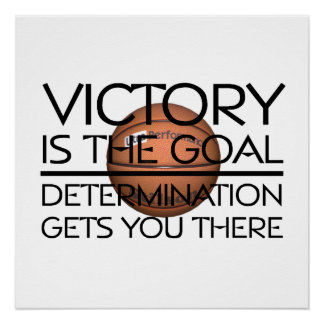 TOP Basketball Victory Slogan Poster