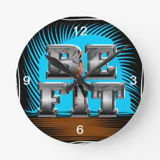 TOP Be Fit Round Clock