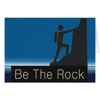 TOP Be The Rock Card
