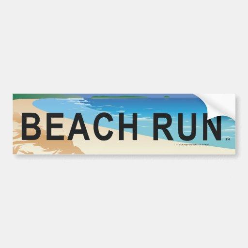 TOP Beach Run Bumper Sticker