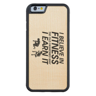 TOP Believe in Fitness Carved® Maple iPhone 6 Bumper Case