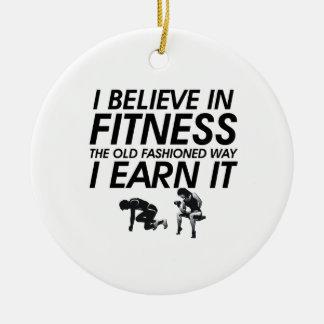 TOP Believe in Fitness Ceramic Ornament