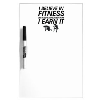 TOP Believe in Fitness Dry-Erase Board