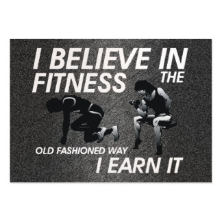 TOP Believe in Fitness Large Business Card