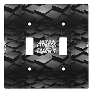 TOP Believe in Fitness Light Switch Cover