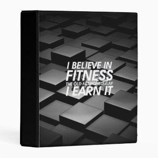 TOP Believe in Fitness Mini Binder