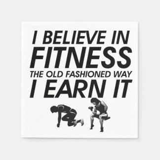 TOP Believe in Fitness Paper Napkin