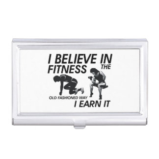 TOP Believe in Fitness Business Card Case