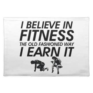 TOP Believe in Fitness Placemat