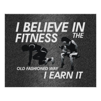 TOP Believe in Fitness Poster