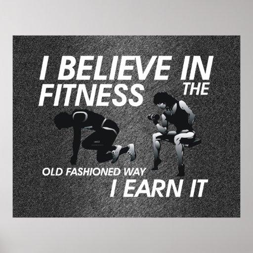 TOP Believe in Fitness Print