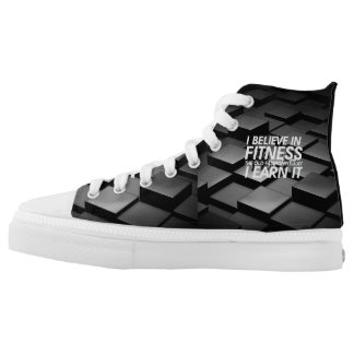 TOP Believe in Fitness Printed Shoes
