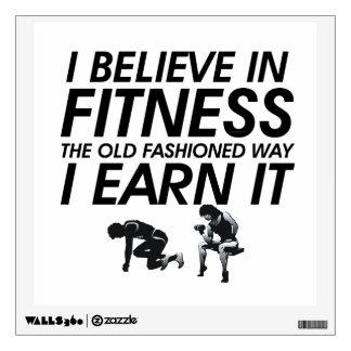 TOP Believe in Fitness Room Decal