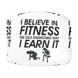 TOP Believe in Fitness Round Pouf