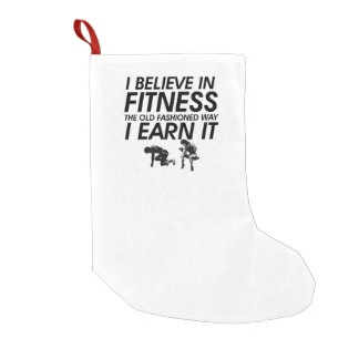 TOP Believe in Fitness Small Christmas Stocking