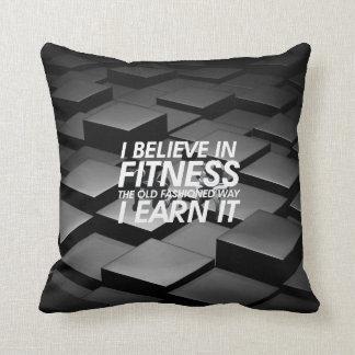 TOP Believe in Fitness Throw Pillow
