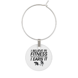 TOP Believe in Fitness Wine Charm