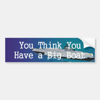 TOP Big Boat Bumper Sticker
