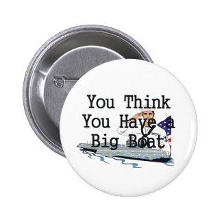TOP Big Boat Pinback Button