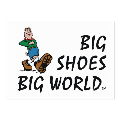 TOP Big Shoes Big World Large Business Card