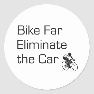 TOP Bike Far Classic Round Sticker
