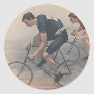 TOP Bike Race Round Sticker