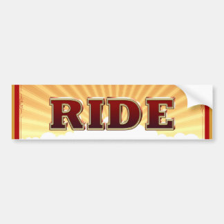 TOP Bike Ride Bumper Sticker