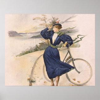 TOP Biking Beauty Poster