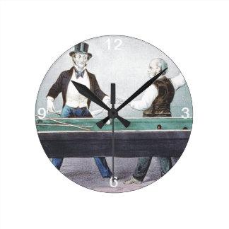 TOP Billiards Round Clocks