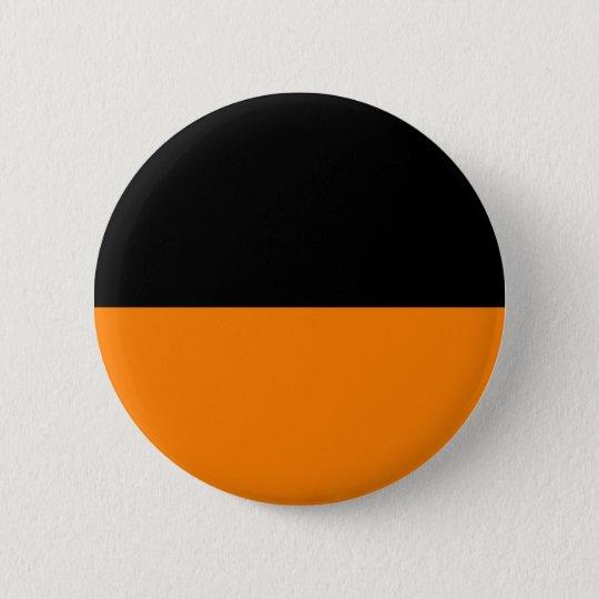 top black bottom orange DIY custom background Pinback Button