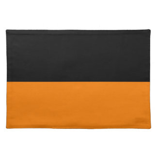 top black bottom orange DIY custom background Placemat