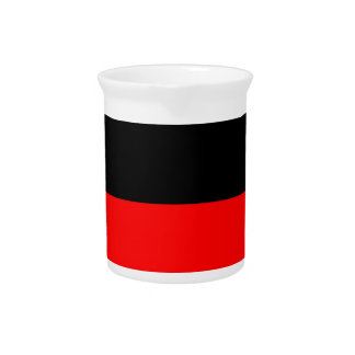 top black bottom red DIY custom background templat Drink Pitcher